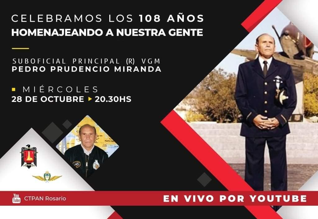 Vivo de YouTube organizado por CTPAN Rosario con el Suboficial Principal (R) VGM Pedro Prudencio MIRANDA