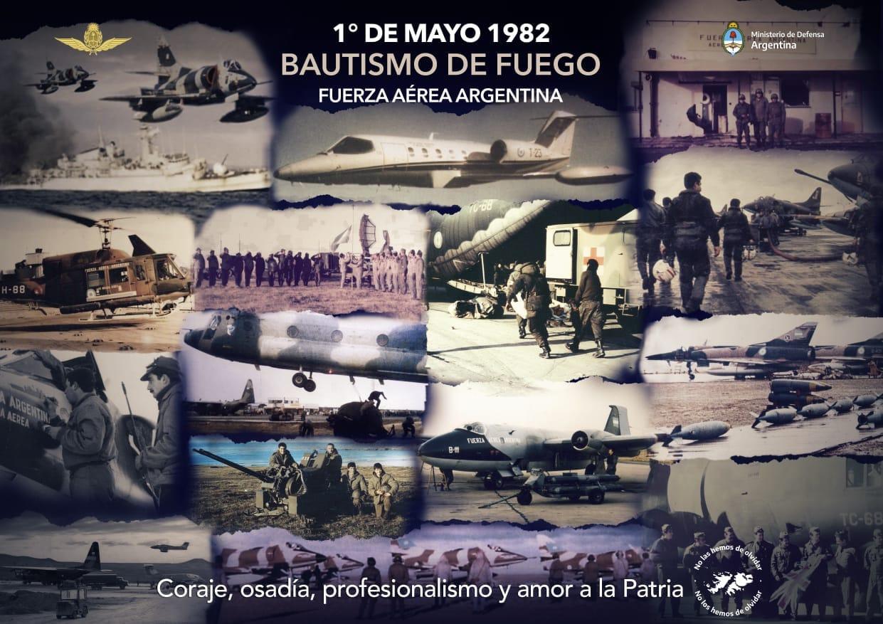 """1 DE MAYO """"Bautismo de Fuego de la Fuerza Aérea Argentina"""""""
