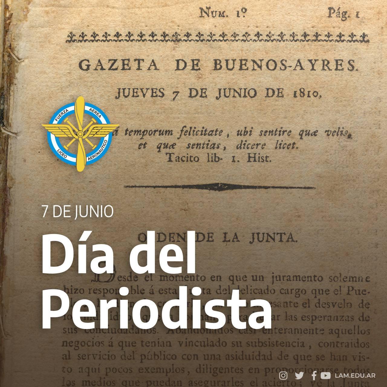 """7 JUNIO """"Día del Periodista"""""""